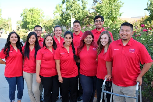 The 2016-17 Richter Center Ambassadors, clockwise from back left, Juan Alejandre, Jocelyn Boe, Juan-Carlos Silva, Francisco Bucio, David Barrera, Alex Gallo, Alejandra Prado, Mala Singh, Evelyn Gonzalez, Alma Alvizar, and Janet Medel