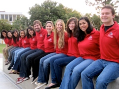 The 2010-11 Richter Center Ambassadors, from left, Daini (Vargas) Park, Song Vang, Valeria Ramirez, Paulina Flores Jimenez, Mika Petrucci, Daniel Ward, Cassidy Smith, Leah (Rath) Grace, Celeste Pilegard, Yekta Karimi, and Chris McComb.