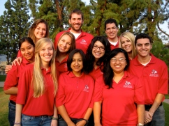 The 2011-12 Richter Center Ambassadors (from back left) Kayla Lawler, Daniel Ward, German Marquez, (middle left) Valeria Ramirez, Jillian Bertolucci, Mika Petrucci, Leah (Rath) Grace, Ryan Brisco, (front left) Becky Pings, Paulina Flores Jimenez, and Song Vang.