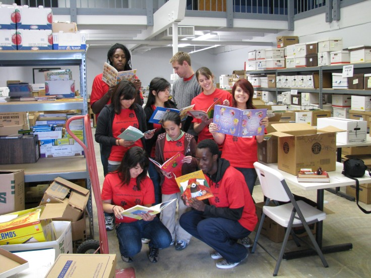 Photograph of students at the Central Valley Book Bank