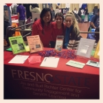Ambassadors staff the Richter Center booth at the annual Spring Community Service Opportunities Fair.