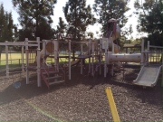 ...and after all of our hard work of resurfacing the playground!