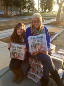 Ambassadors were up  before the sun passing out papers and aprons to excited Bulldogs!