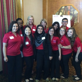The Richter Center Ambassadors just before presenting at COS 2015 in Long Beach.