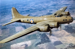 An picture of the type of plane Rudy flew in. Boeing B-17E. (U.S. Air Force photo)